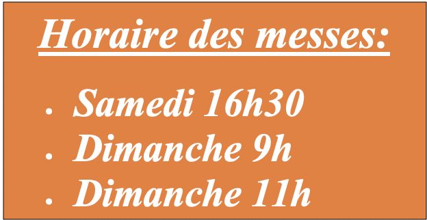 messe horaire